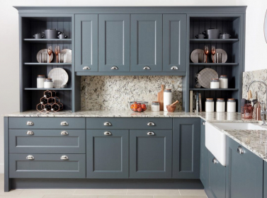 Painted Kitchen Mid Grey