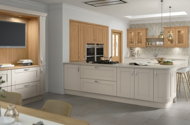 Painted Kitchen Mussel Oak