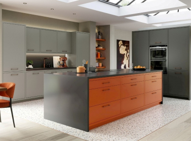 Painted Kitchen Orange