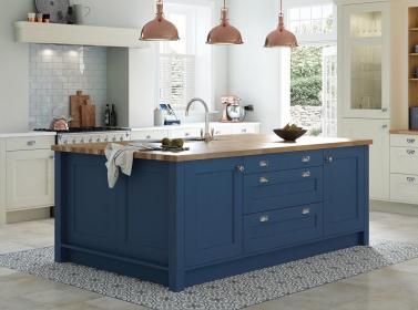 Painted Kitchen Parisian Blue