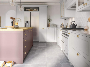 Painted Kitchen Pink