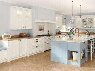 Painted Kitchen Porcelain Light Blue