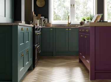 Painted Kitchen Purple