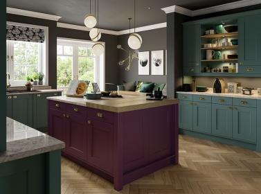 Painted Kitchen Purple