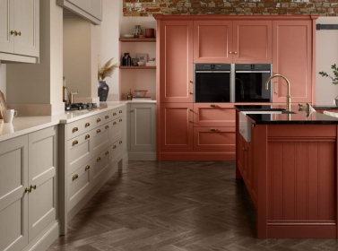 Painted Kitchen Red
