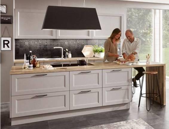 Painted Kitchen Stone Grey