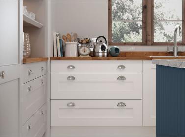 Painted Kitchen White Light Grey