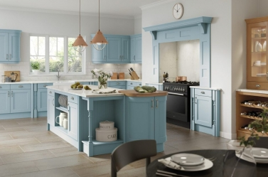 Painted kitchen Blue