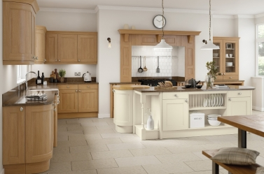Painted kitchen Cream Oak