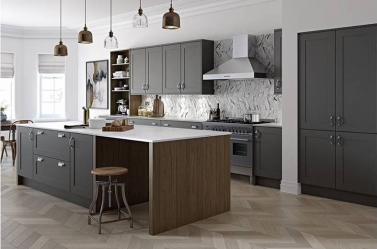 Painted Kitchen Dark Grey