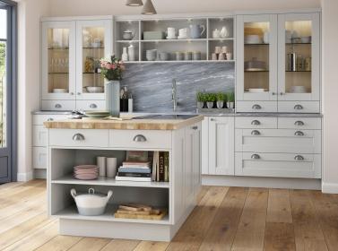 Painted kitchen Light Grey