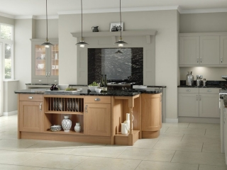 Painted Kitchen Olive Oak