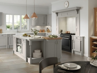Painted kitchen Silver Grey