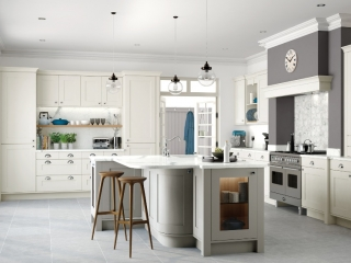Painted kitchen Porcelain Stone