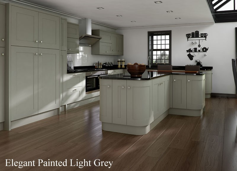 Painted Kitchen Light Grey