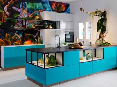 Turquoise Gloss Kitchen