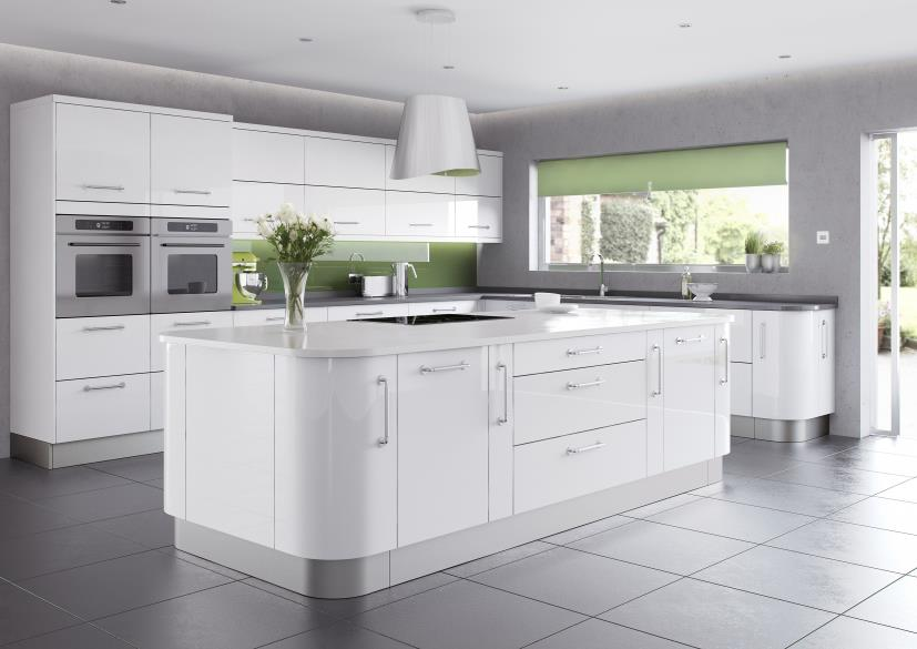 Kitchen design trends for 2014 your kitchen broker for White gloss kitchen wall cupboards