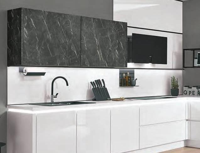 White Gloss Terano Kitchen