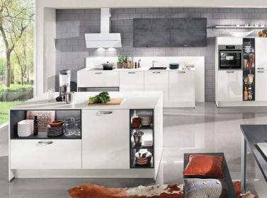 White Grey Gloss Kitchen