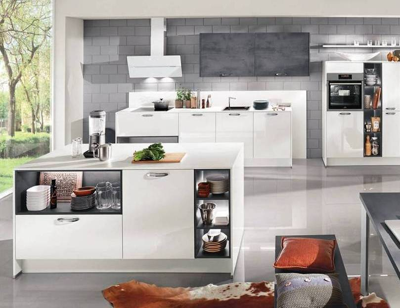 White Grey Gloss Kitchen