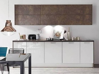 White bronze gloss kitchen