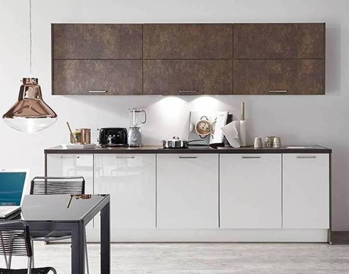 White bronze gloss kitchen