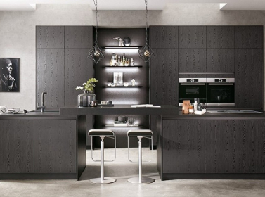 Wood Kitchen Black Oak
