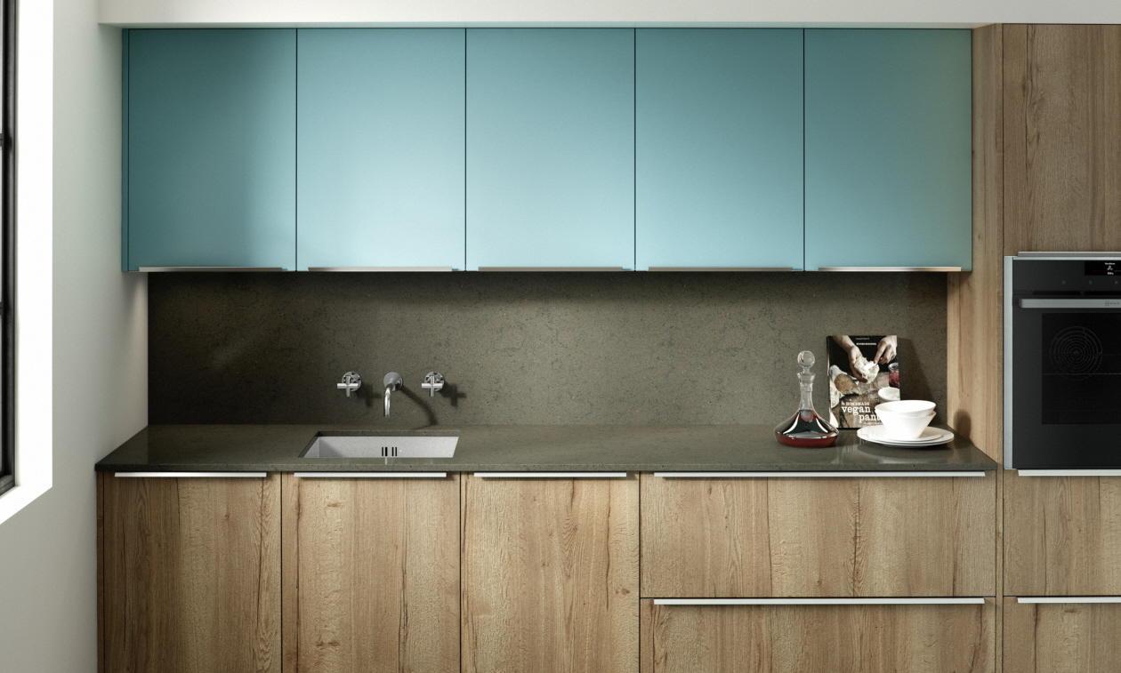 Wood Kitchen Blue PWS