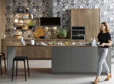 Wood Kitchen Dark Oak