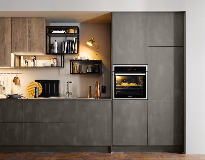 Wood Kitchen Dark Steel SCH