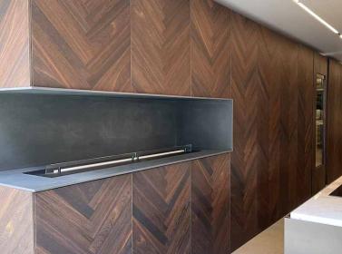 Wood Kitchen Herringbone