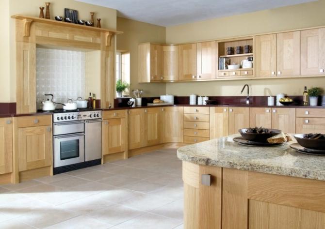 Wood Kitchen Natural Oak