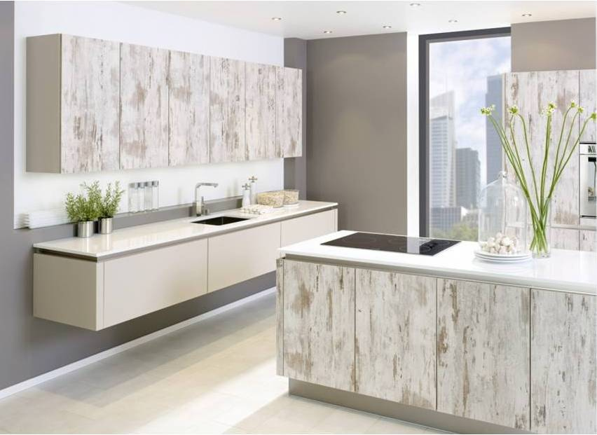 Wood Kitchen White Distressed Oak