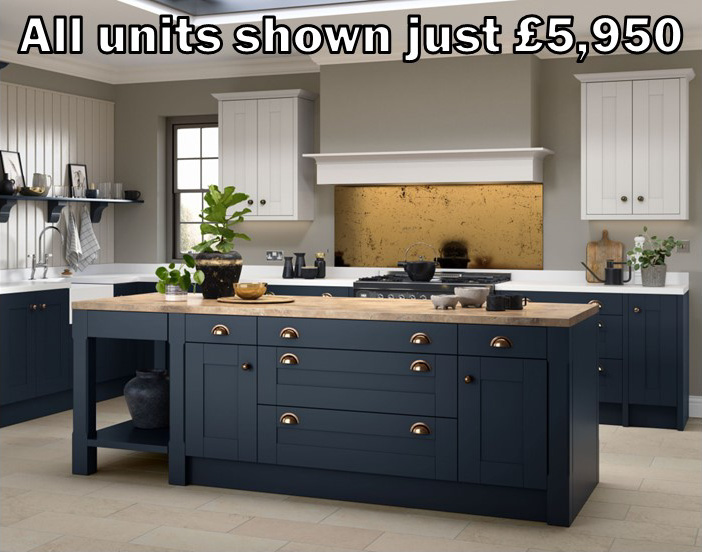 blue shaker kitchen 26