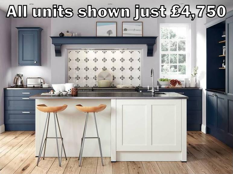 blue shaker kitchen 8