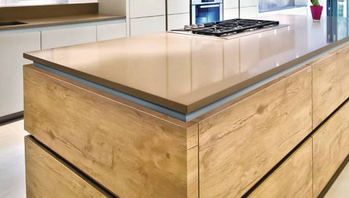 A handleless kitchen or handleless effect kitchen Handleless kitchen drawers design
