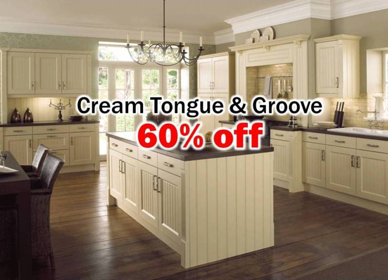 cream tongue and groove kitchen - Your Kitchen Broker