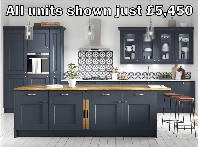 dark blue shaker kitchen 202