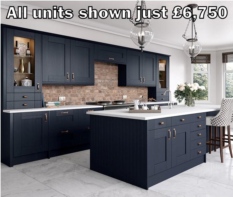 dark blue shaker kitchen 300.1