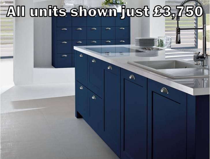 dark blue shaker kitchen 9