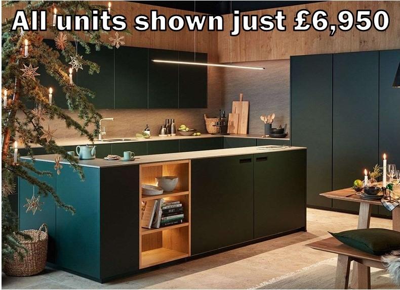 dark green handleless kitchen 4