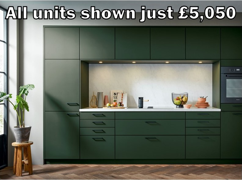 dark green matt kitchen 121