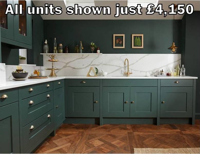 dark green shaker kitchen 13