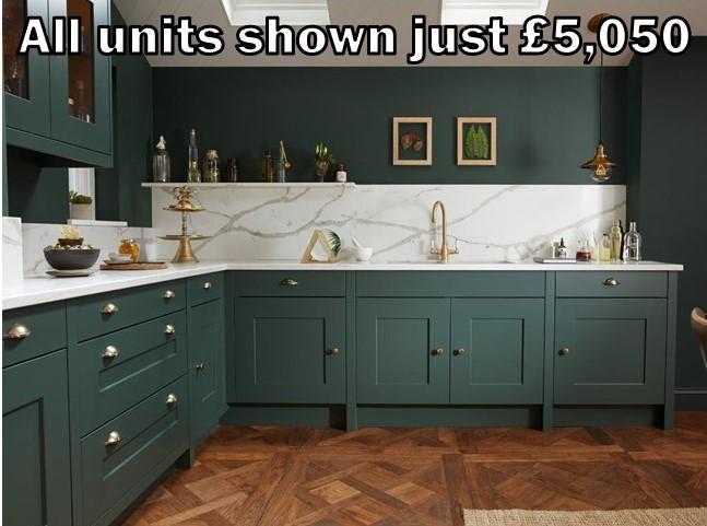 dark green shaker kitchen 151