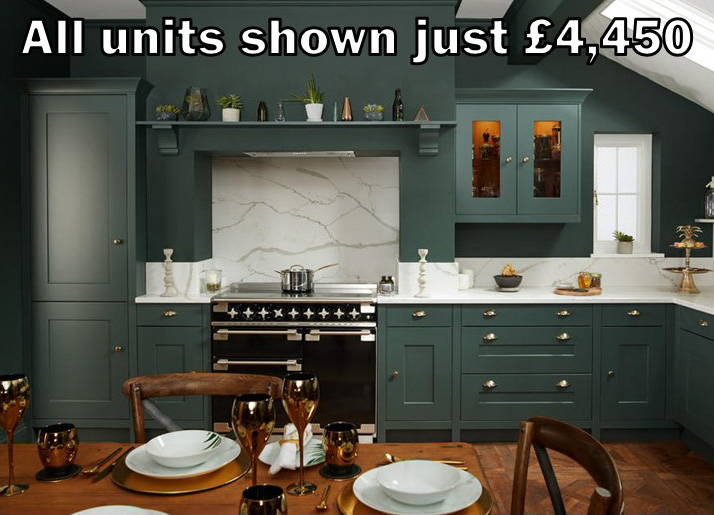 dark green shaker kitchen 50.2