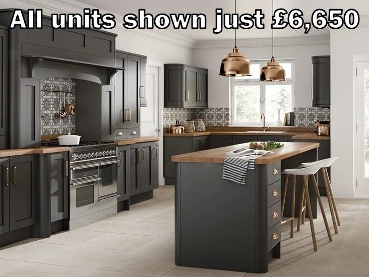dark grey shaker kitchen 102