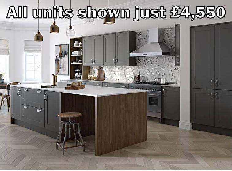 dark grey shaker kitchen 3