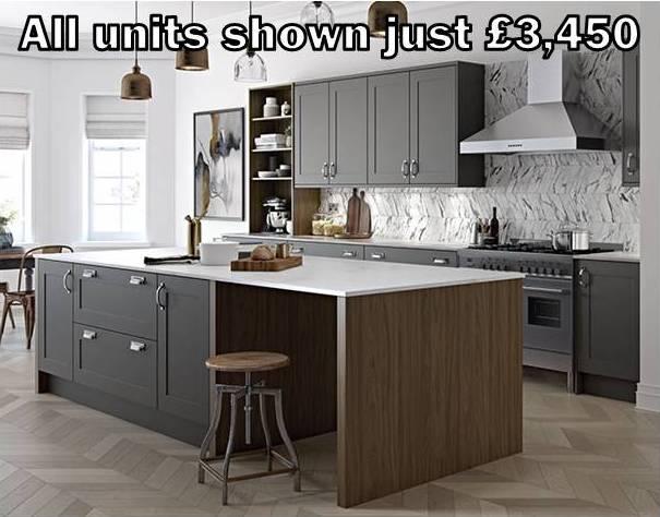 dark grey shaker kitchen 9
