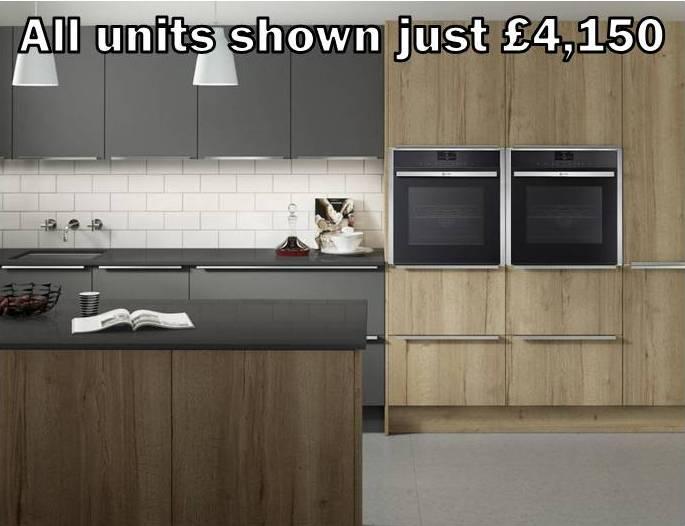 dark grey wood kitchen