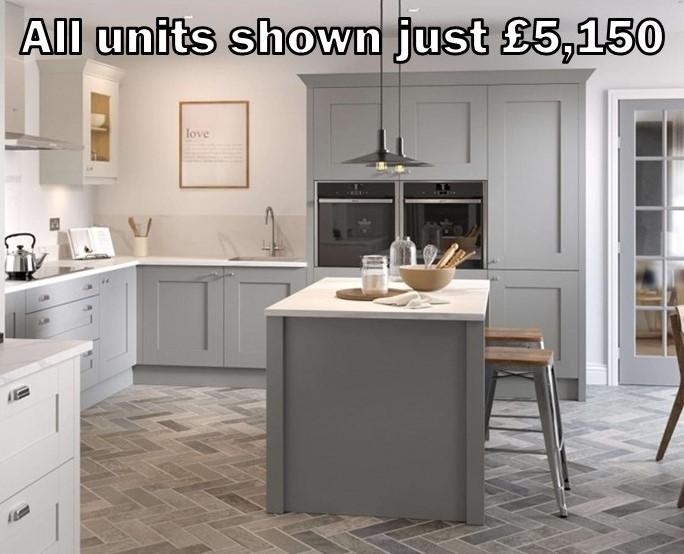 dust grey shaker kitchen 11